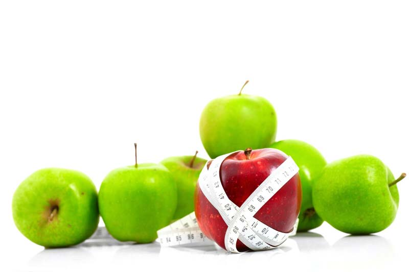 Metabolic Balance® apple with a tape measure