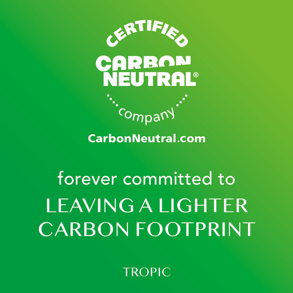 Tropic Skincare is carbon neutral